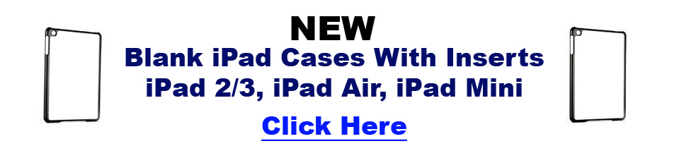New Blank Dye Sublimation iPad Cases