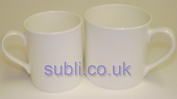 Large Balmoral Bone China Blank Mugs Dye Sublimation.