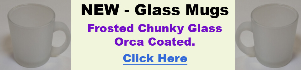 Blank Glass Mugs Dye Sublimation. Frosted. Orca Coated. Dishwasher Proof.