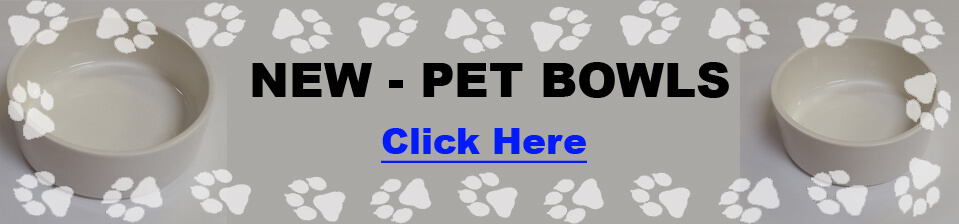 Blank Dog / Cat / Rabbit / Pet Bowls for Dye Sublimation.