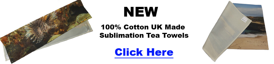 New 100% Cotton Sublimation Tea Towels.