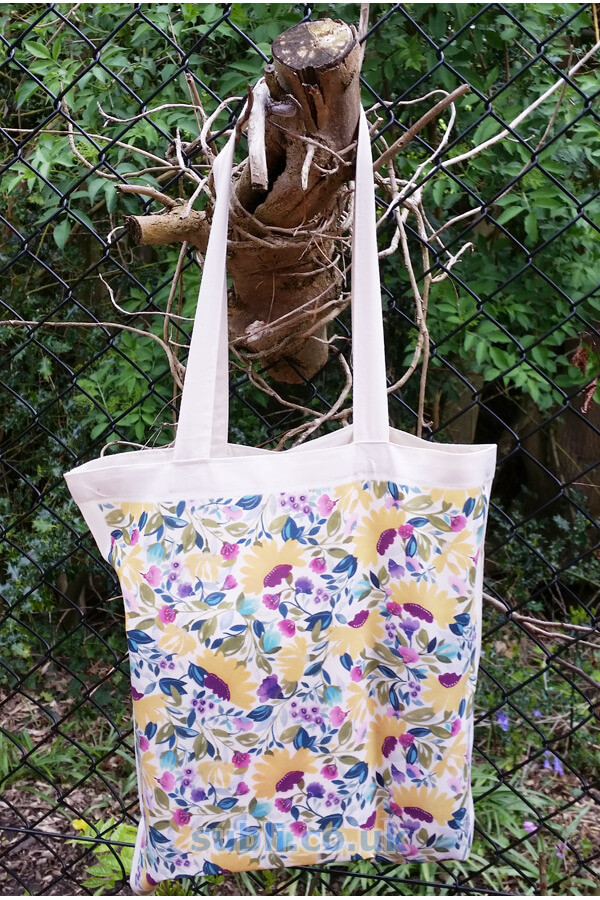Blank Sublimation Shopping Bags Tote Bags Recycled Pet Fabric