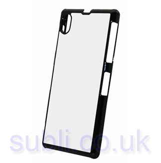 new product f4b58 61b86 Sony Xperia Z1 Case. Plastic Edged - Black.