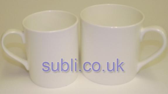 Large Balmoral Bone China Blank Mugs Dye Sublimation.